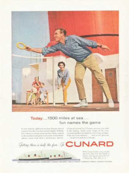 Cunard Cruise Ship Line Deck Games (1959)