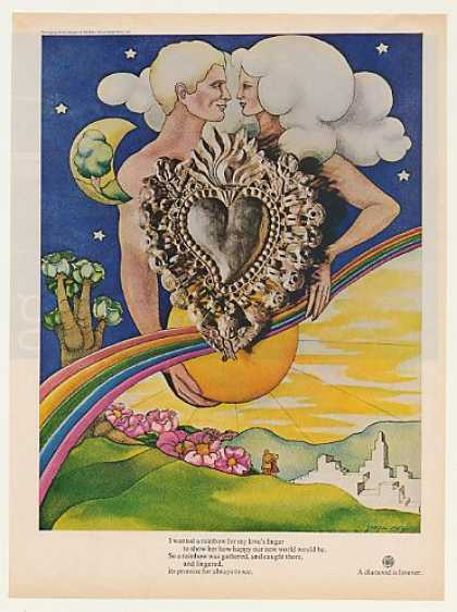 De Beers Diamond Rainbow Love Jacqui Morgan art (1969)