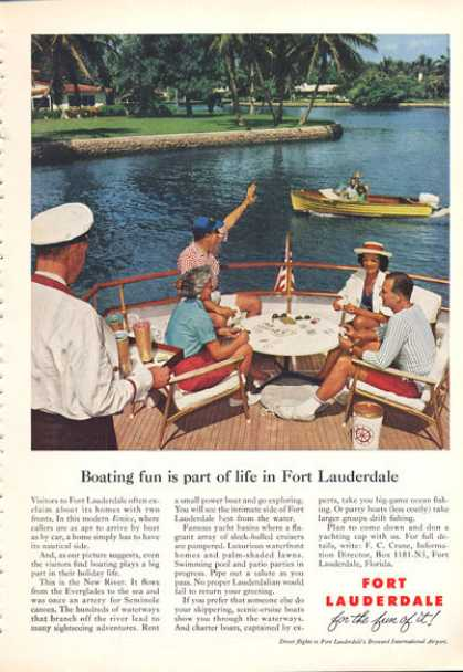 Fort Lauderdale Florida Vacation Ad Little Venice (1960)