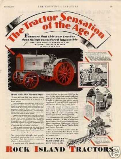 Rock Island Tractor Color (1929)