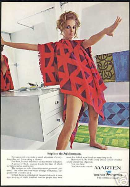 Martex Geometrix Pattern Towel Collection (1970)
