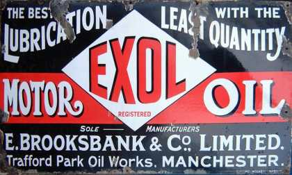 Exol Motor Oils Old Garage Sign