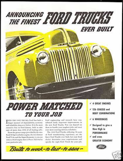 Finest Ford Yellow Truck Vintage (1942)