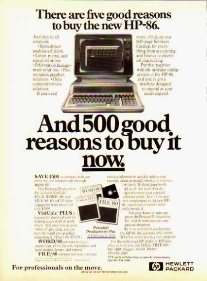 Hewlett Packard HP-86 – Five good reasons to buy one (1983)