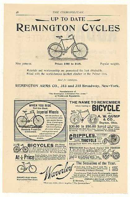 Remington Bicycle Imperial Wheels Gump Waverley (1894)
