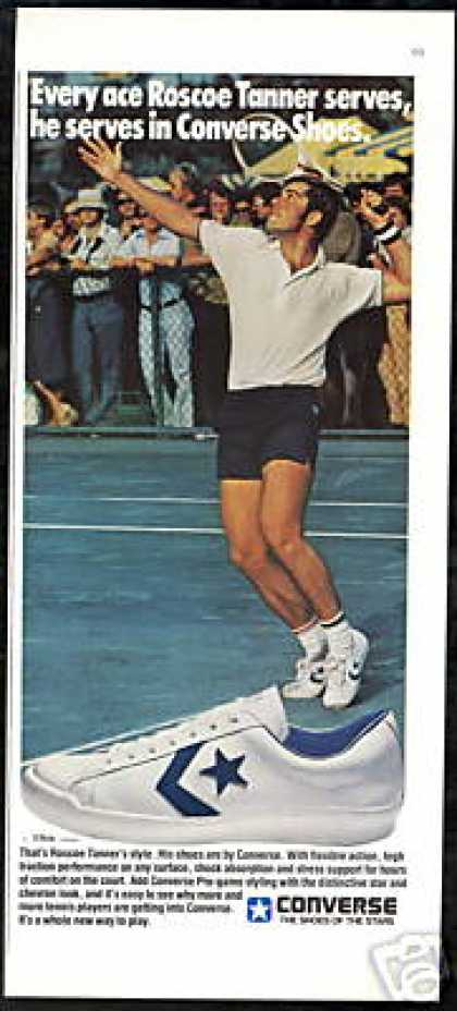Tennis Roscoe Tanner Photo Converse Shoe (1978)