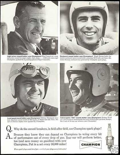 Champion Plugs Max Conrad Hugh Entrop (1960)