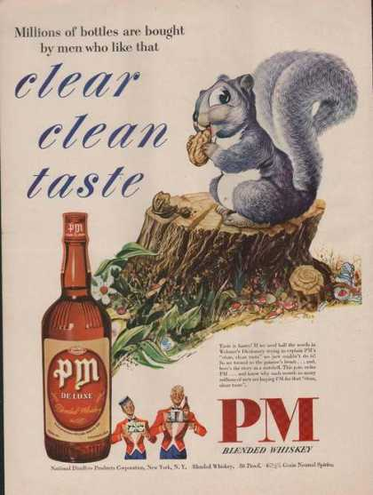 Clear Clean Taste Pm Deluxe Whiskey Print (1949)