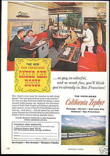 California Zephyr Train San Francisco Car (1961)