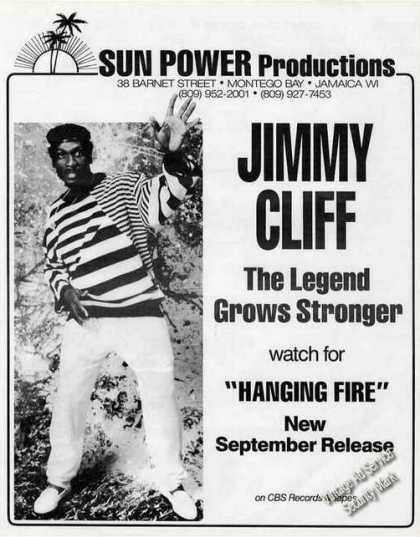 "Jimmy Cliff ""The Legend Grows Stronger"" Photo (1987)"