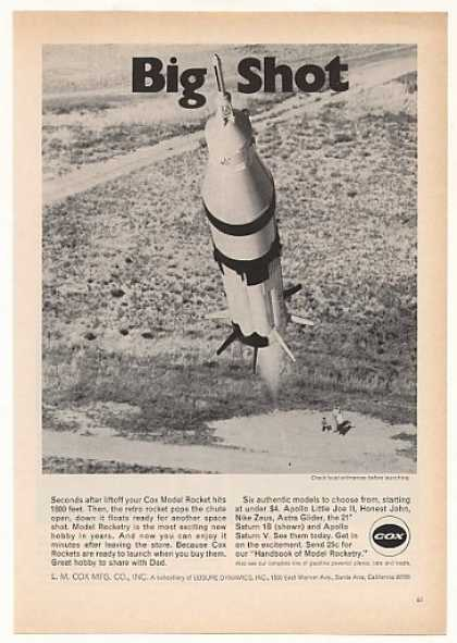 Cox Saturn 1B Model Rocket Photo (1970)