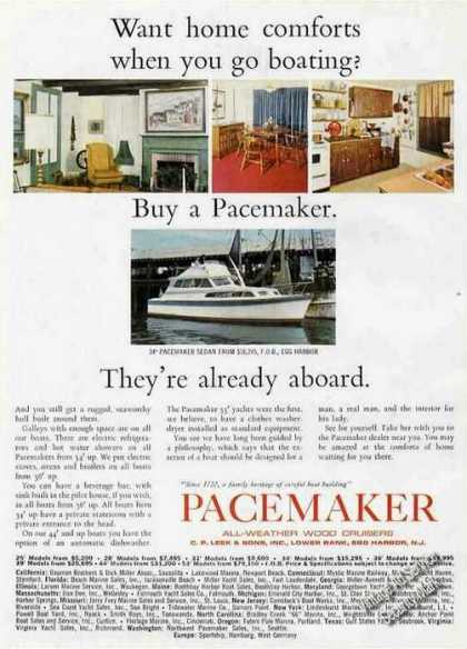 Pacemaker 34' Sedan All-weather Wood Cruisers (1966)