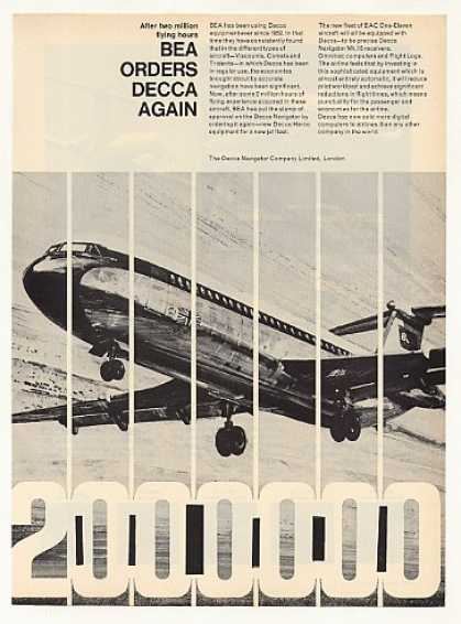 BEA Airlines BAC One-Eleven Jet Decca Navigator (1967)