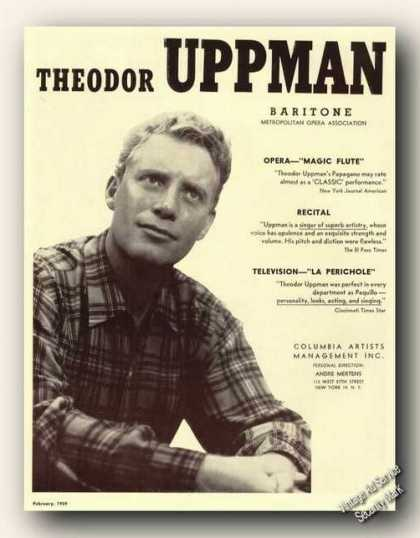Theodor Uppman Photo Opera Ad Music (1959)