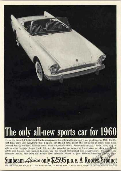 Sunbeam Alpine Sports Car Nice Collectible (1960)