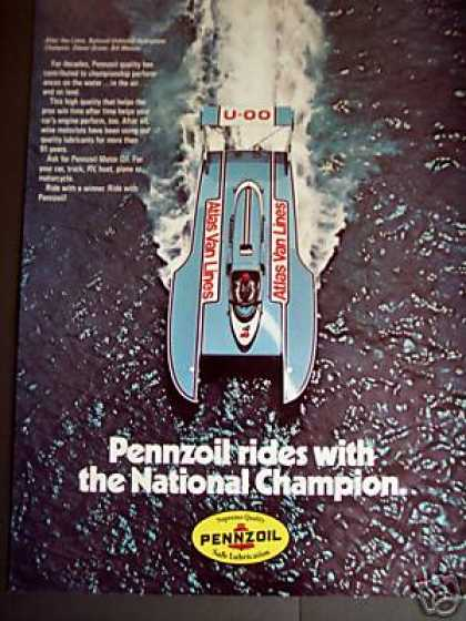 Boat Race Champ Bill Muncey Pennzoil Photo (1979)