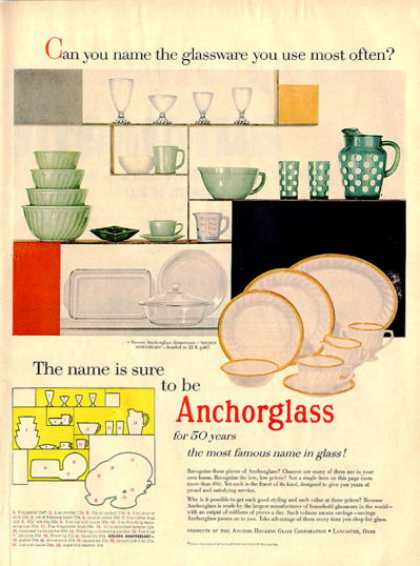 Anchorglass Glass Dinnerware Golden Anniversary (1955)