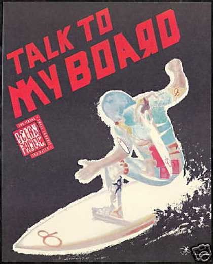 Surfer Surfboard Ocean Pacific OP Fashion (1989)