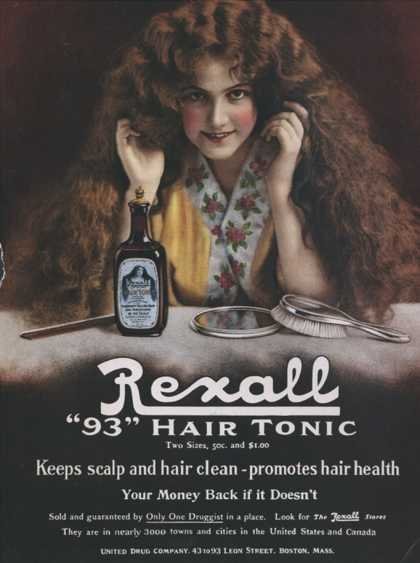 Rexall, Hair Shampoo Tonic, USA (1910)