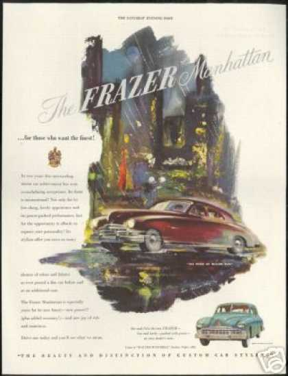 Frazer Manhattan Car Vintage Print Art (1949)