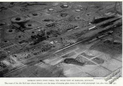 Aerial View Parco Wy Antique Print Photo (1926)