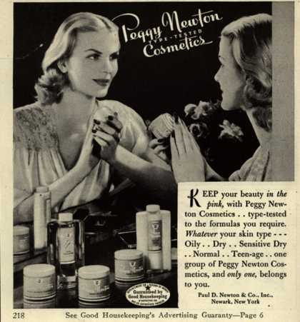 Paul D. Newton & Co.'s Various – Peggy Newton Type-Tested Cosmetics (1944)