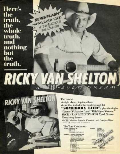 Ricky Van Shelton Photos Album/tour Schedule (1987)