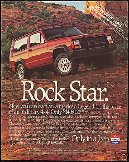 Jeep Cherokee Sport Rock Star (1989)