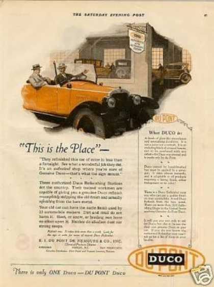 "Dupont Duco Color Ad ""This Is the Place... (1925)"