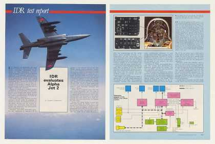 Dassault Alpha Jet 2 4-Page Test Report Article (1987)