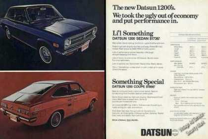 "Datsun 1200 ""We Took Ugly Out of Economy"" (1970)"