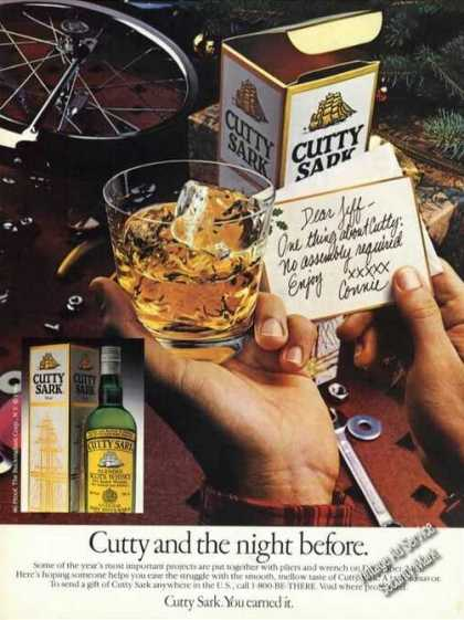 Cutty Sark Night Before Old Liquor Advertising (1984)