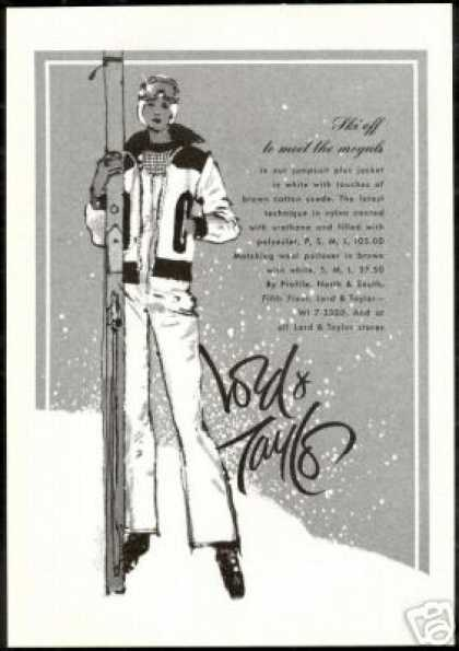 Woman Snow Ski Skier Fashion Lord &amp; Taylor (1974)