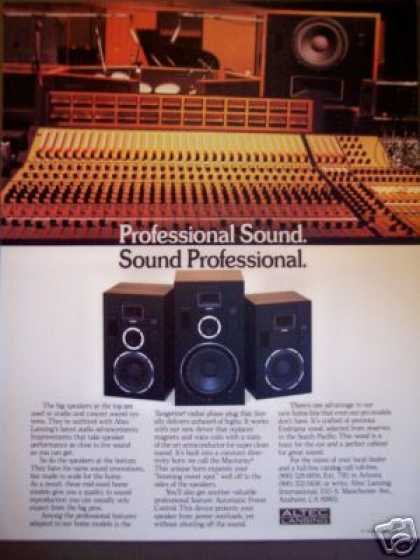 Altec Lansing Professional Sound Speakers (1981)