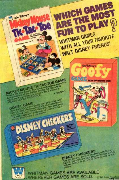 Whitman Game's Disney Board Games (1977)