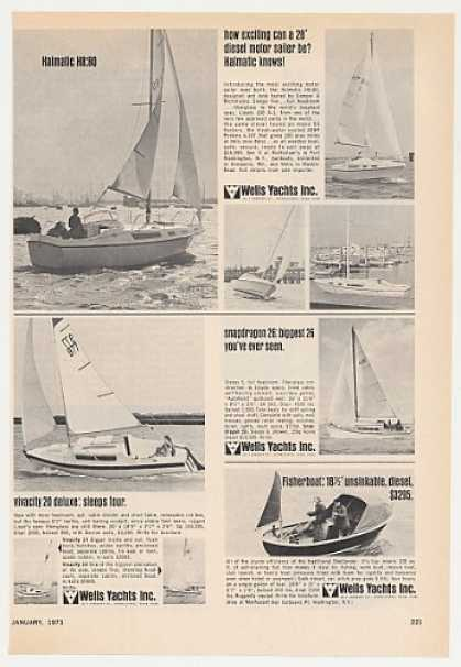 Wells Yachts Halmatic H8:80 Snapdragon 26 Boat (1971)