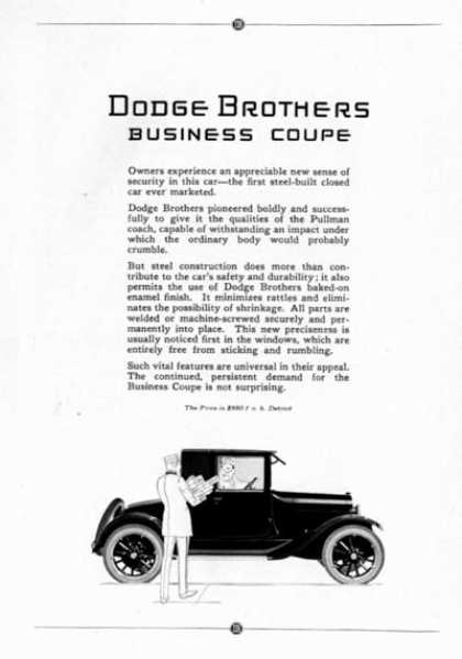 Dodge Business Coupe (1923)