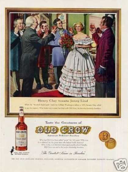 Old Crow Bourbon Whiskey Ad 'henry Clay... (1961)