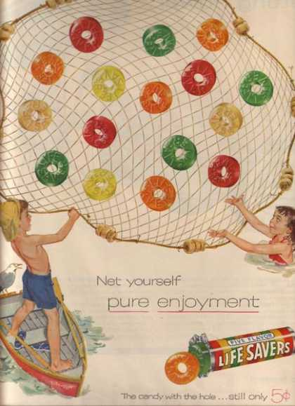"Lifesaver's ""Net yourself Pure Enjoyment"" (1955)"