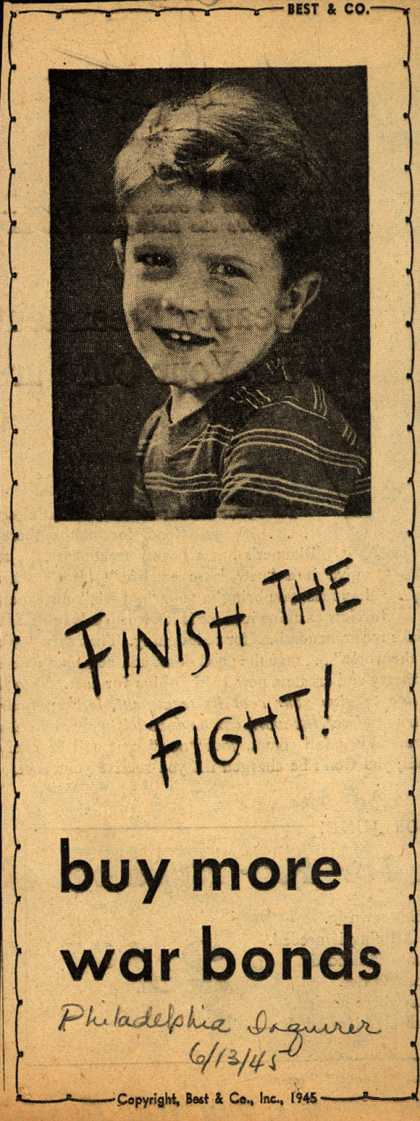 Best & Co.'s War Bonds – Finish The Fight (1945)