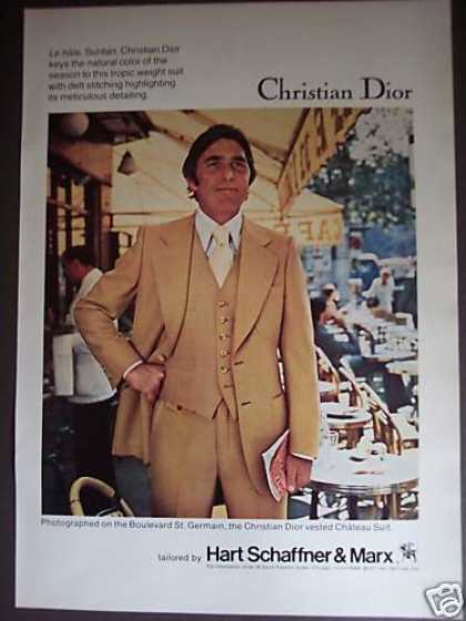 Christian Dior Chateau Suit Fashion Photo (1977)