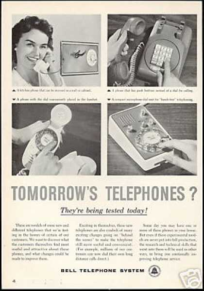 Tomorrow's Phones Photo Bell Telephone System (1959)