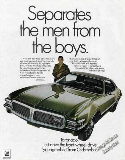 Oldsmobile Toronado Is All Man Impressive Car (1968)