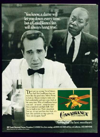 Robert Sacchi Bogart Double In Casablanca Fan C (1982)
