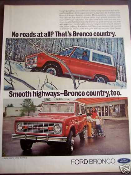 Red Ford Bronco Car (1972)