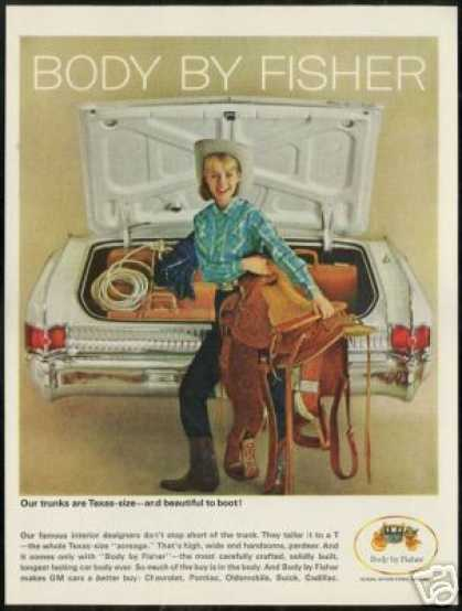 Cute Cowgirl Horse Saddle GM Body by Fisher (1964)