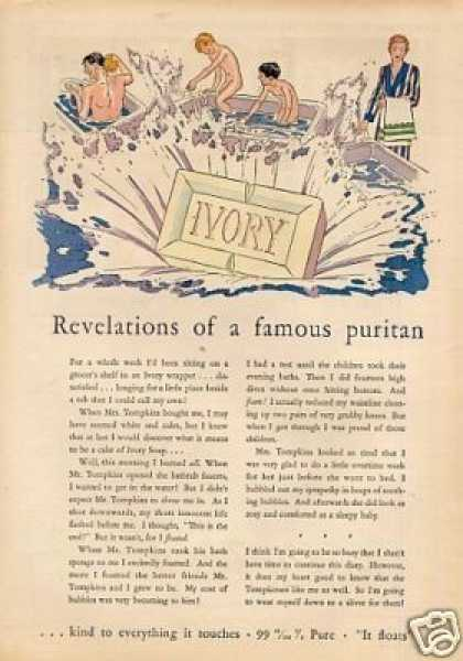 "Ivory Soap Color Ad ""Revelations of a Famous... (1930)"