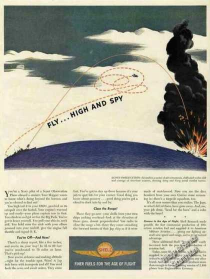 "Scout Observation ""Fly High & Spy"" Wwii Shell (1944)"