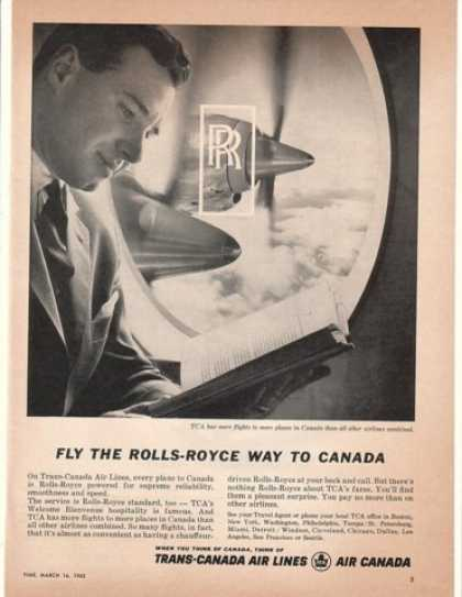 TCA Trans-Canada Airlines Fly Rolls-Royce Way (1962)