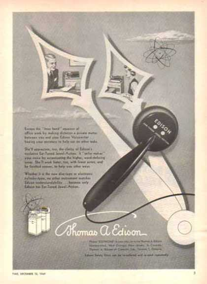 Thomas A. Edison Incorporation – Hour Hand- Voicewriter (1949)